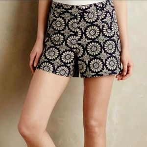 Elevenses Anthropologie Tiles Tide Shorts Size 6